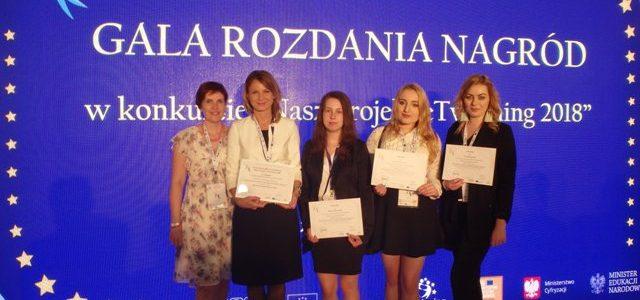 """Gala rozdania nagród w konkursie """"Nasz projekt eTwinning 2018"""""""