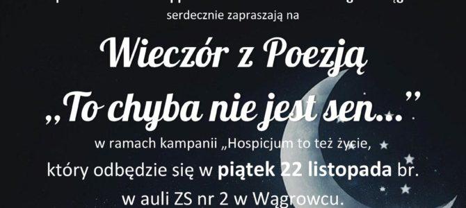 Zapraszamy na Wieczór z Poezją